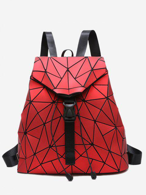 Geometric Pattern Over Lap Backpack - RED