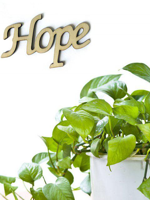 Hope Wooden Letters Sign - BURLYWOOD