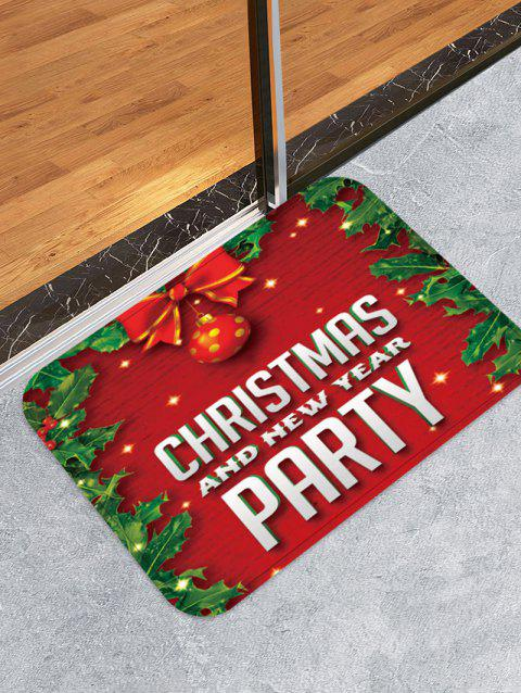 Christmas and New Year Printed Floor Mat - LAVA RED W16 X L24 INCH