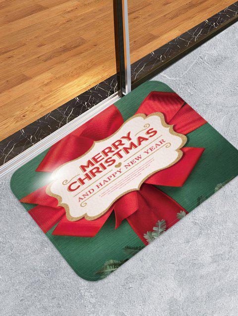 Merry Christmas Pattern Floor Mat - MEDIUM SEA GREEN W20 X L31.5 INCH
