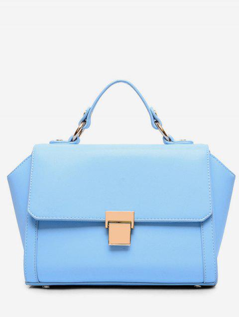 Solid Magnetic Closure Tote Bag - DAY SKY BLUE