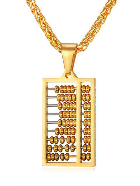 Abacus Metal Hollowed Stylish Necklace - GOLD