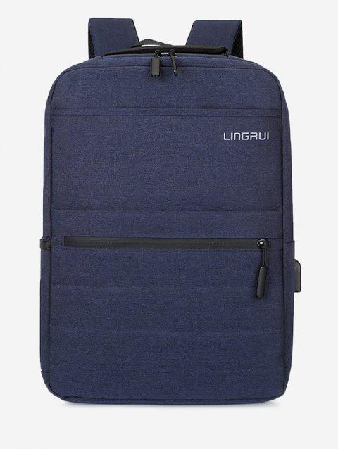 Multifunction High Capacity Business Backpack - DARK SLATE BLUE