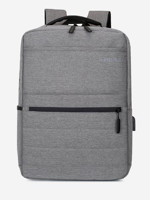 Multifunction High Capacity Business Backpack - GRAY CLOUD