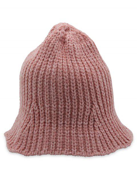 Flanging Knitted Fisherman Hat - PINK