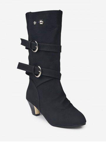 3c268132cea Double Strap Mid Calf Boots