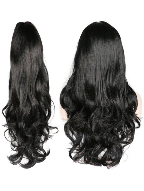Middle Part Wavy Long Capless Party Synthetic Wig - NATURAL BLACK