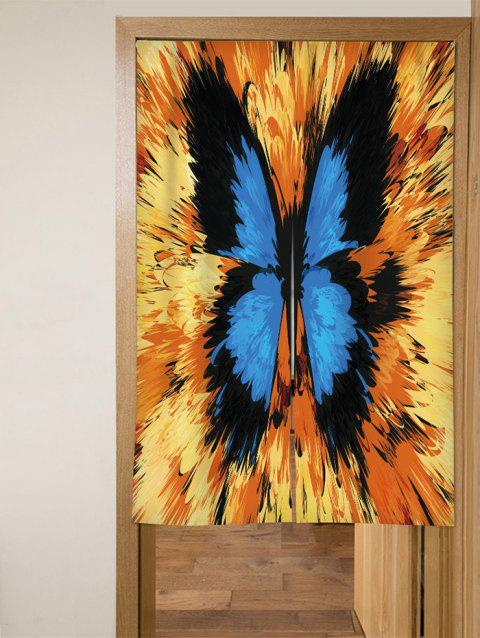 Butterfly Print Door Curtain - multicolor W33.5 X L35.5 INCH