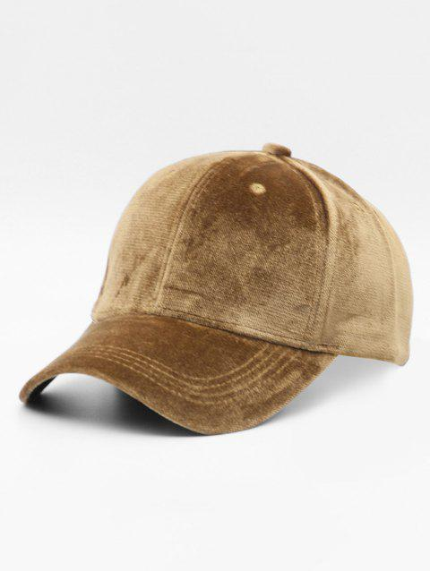 Simple Style Suede Baseball Hat - CAMEL BROWN