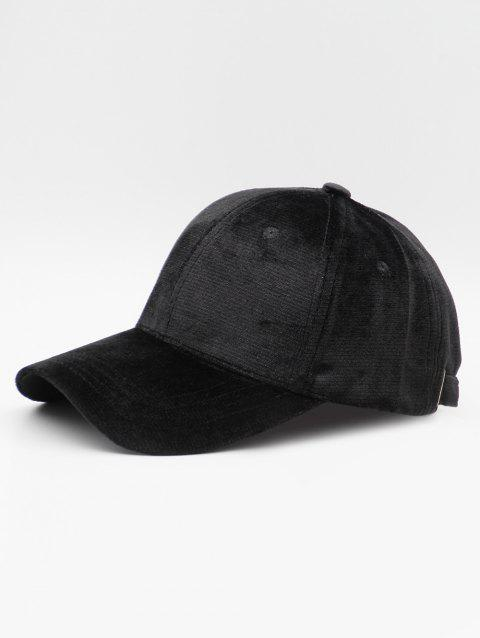 Simple Style Suede Baseball Hat - BLACK
