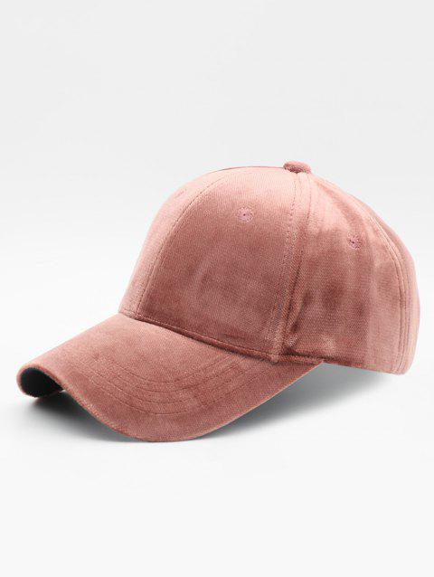 Simple Style Suede Baseball Hat - LIPSTICK PINK