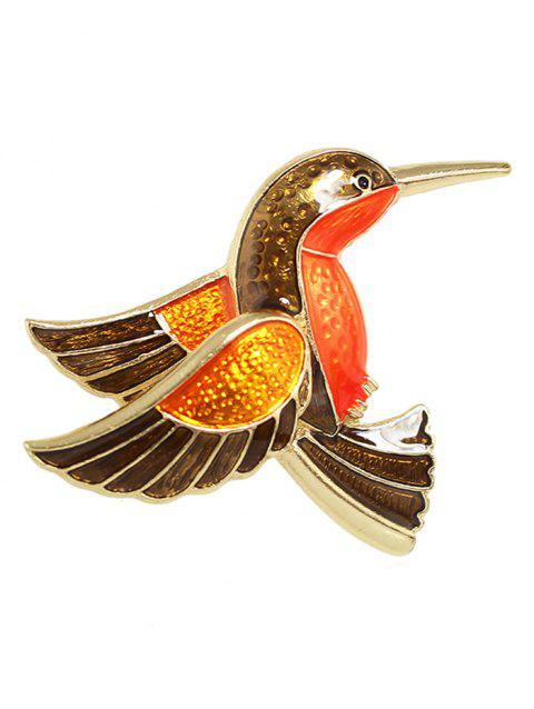 Bird Design Alloy Brooch - multicolor