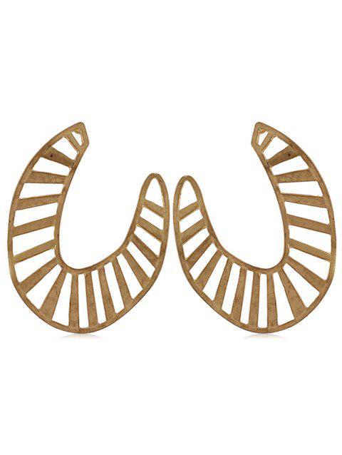 Hollow Out Alloy Stud Earrings - GOLD
