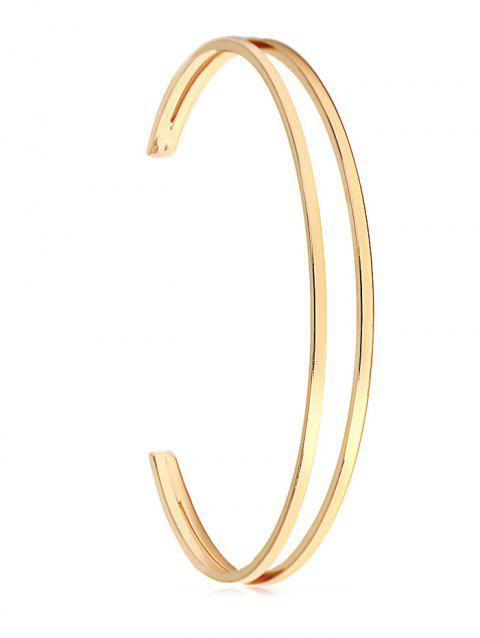 Simple Style Hollow Out Bracelet - GOLD