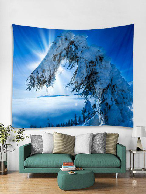 Snow Trees Print Tapestry Wall Hanging Art Decoration - multicolor W59 X L51 INCH