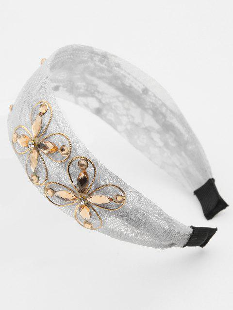 Butterfly Lace Hair Band - GRAY