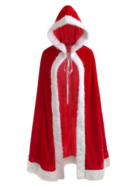 Christmas Cosplay Costume Velvet Cloak - RED ONE SIZE