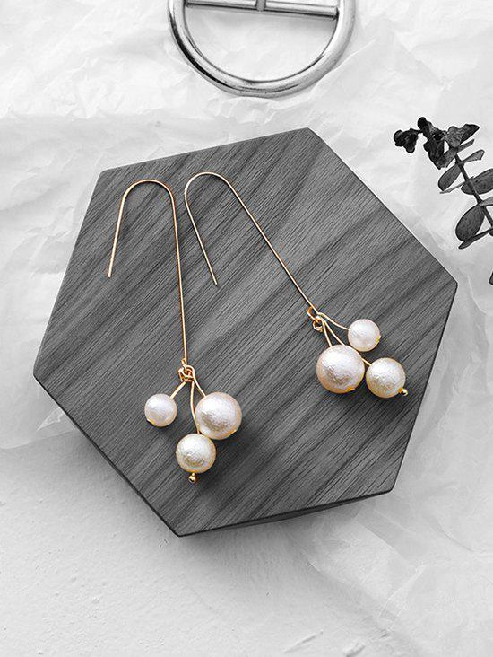 Stylish Faux Pearl Decoration Earrings - WHITE