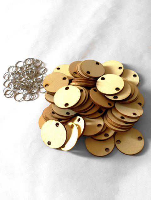 50 Pcs DIY Birthday Calendar Round Wooden Discs - BURLYWOOD
