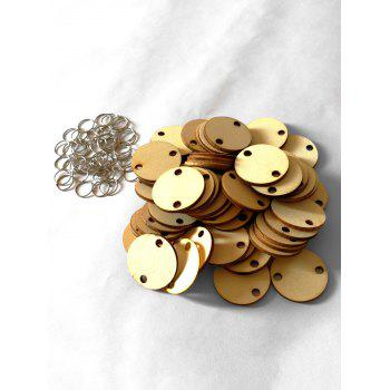 50 Pcs DIY Birthday Calendar Round Wooden Discs