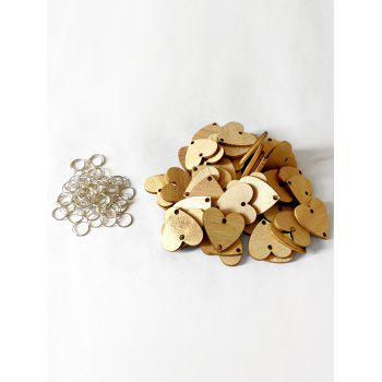 50 Pcs DIY Birthday Calendar Heart Shape Wooden Discs