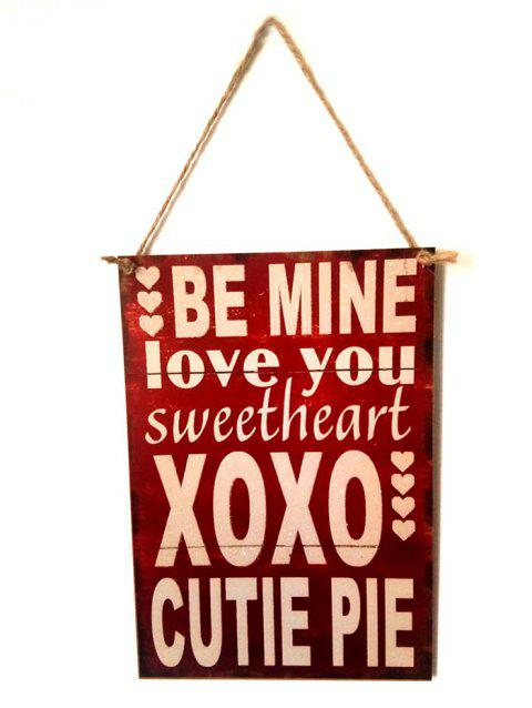 b8245fabbda 41% OFF  2019 Valentine s Day Letter Wooden Hanging Sign In ...