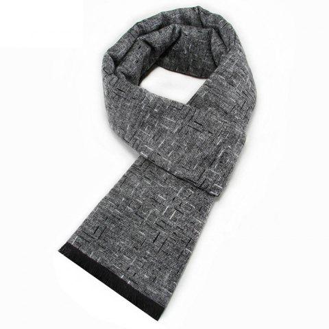 2db90b788d New Men Scarves Solid Color Winter Imitation Cashmere Jacquard Scarf  Protective Scarf