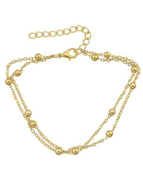 Double Layered Tiny Beads Anklet - GOLD