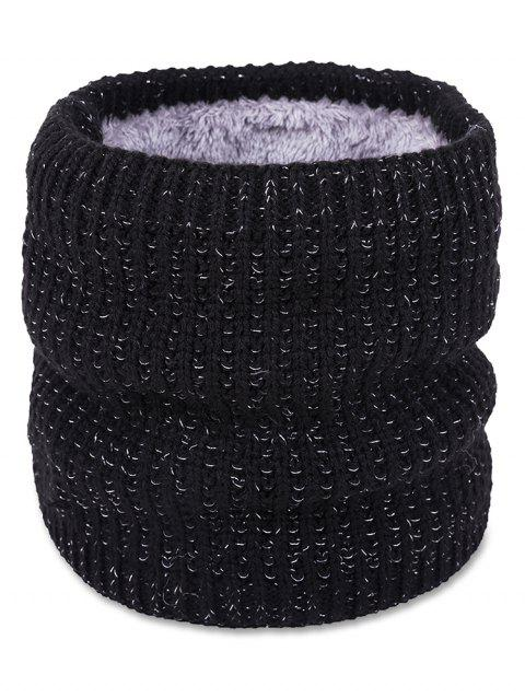 Stylish Style Winter Knitted Scarf - BLACK