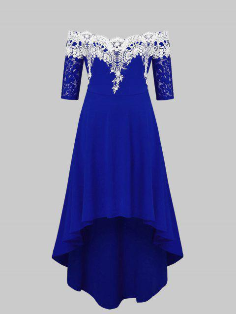 CUSTOM] 2019 Off The Shoulder Plus Size High Low Dress In BLUEBERRY ...