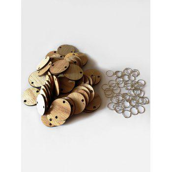Birthday Calendar Accessory 50 Pcs DIY Round Wooden Discs
