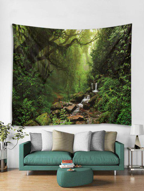 Forest Stream Print Tapestry Wall Hanging Art Decor - multicolor W59 X L51 INCH