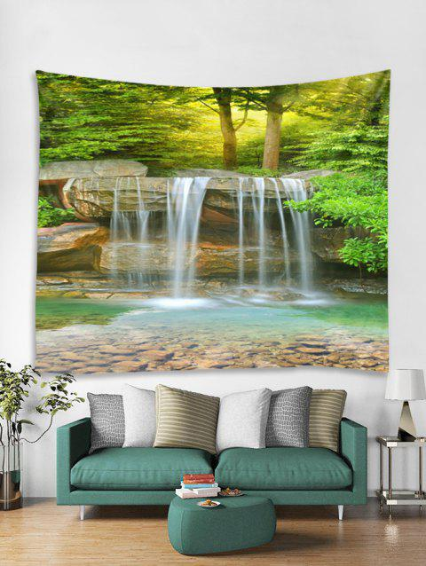 Forest Stream Print Tapestry Wall Hanging Art Decoration - multicolor W59 X L51 INCH