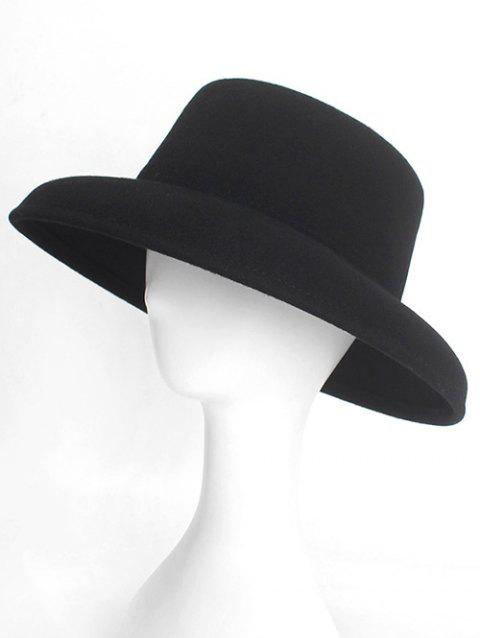 Simple Style Winter Flat Top Hat - BLACK