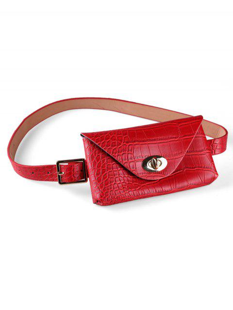 Fashionable Buckle Fanny Pack Belt - multicolor B