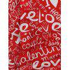 Valentine's Day Letters Print Long Sleeves Shirt - multicolor 2XL