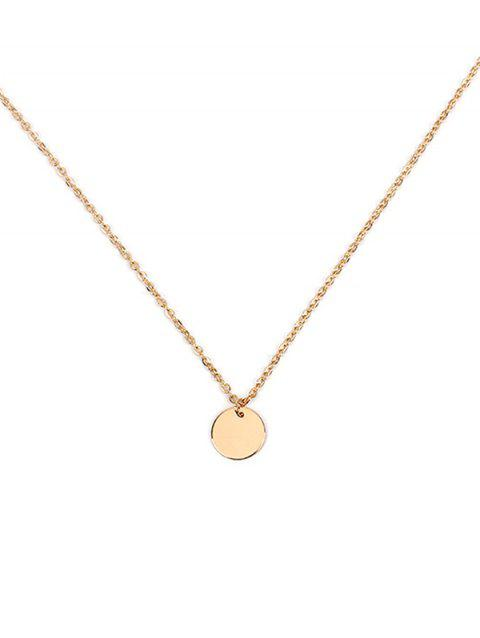Simple Round Link Chain Necklace - GOLD