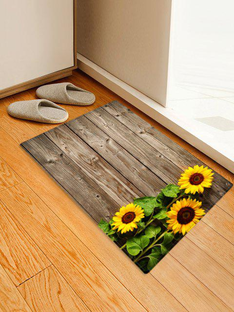 Sunflowers Wood Board Print Floor Mat - multicolor W20 X L31.5 INCH