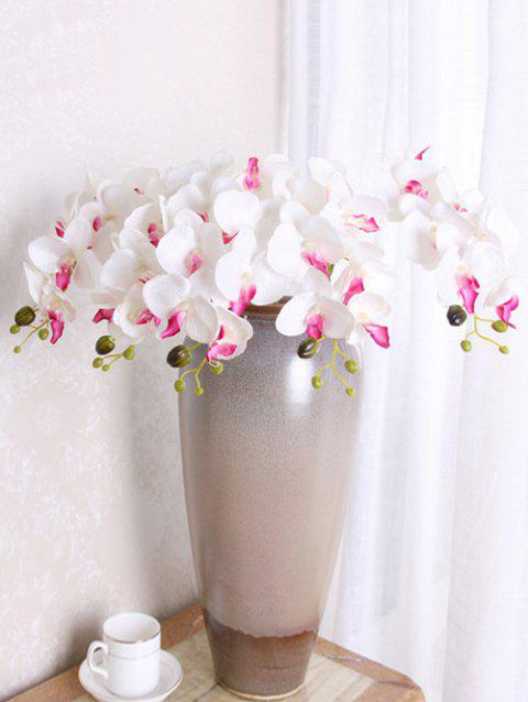 5 Pcs Home Decoration Artificial Phalaenopsis Flowers - WHITE