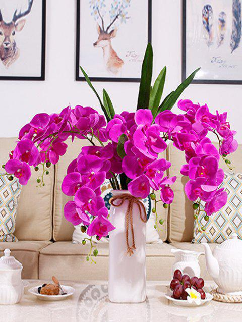Home Decoration 5 Pcs Artificial Phalaenopsis Flowers - BRIGHT NEON PINK