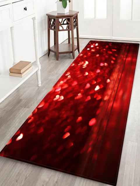 Tapis de sol Love Heart ValentinePrinted - Rouge Vineux W24 X L71 INCH