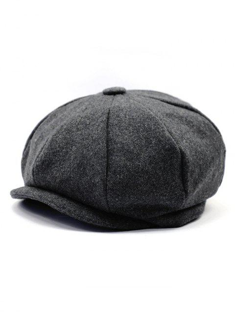 Faux Wool Winter Beret - CARBON GRAY