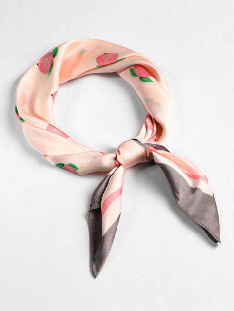 Lemon Pattern Square Shape Scarf - PINK