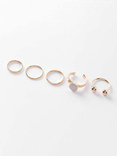 Simple Round Finger Ring Set - GOLD