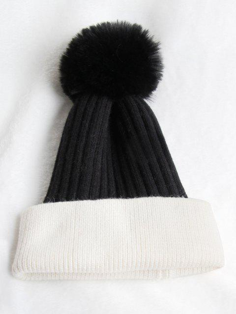 d10fb4e585b 2019 Fuzzy Ball Winter Hat In BLACK