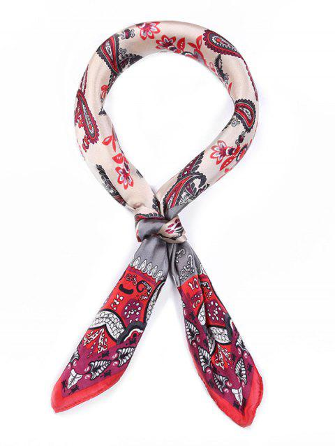 Ethnic Design Printed Square Scarf - multicolor A