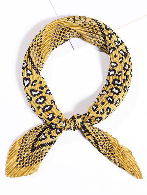 Crinkle Small Square Scarf - SUN YELLOW