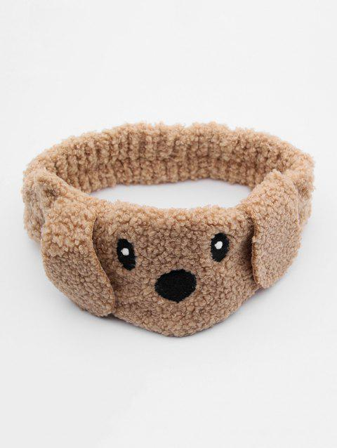 Dog Face Fuzzy Hairband - BROWN