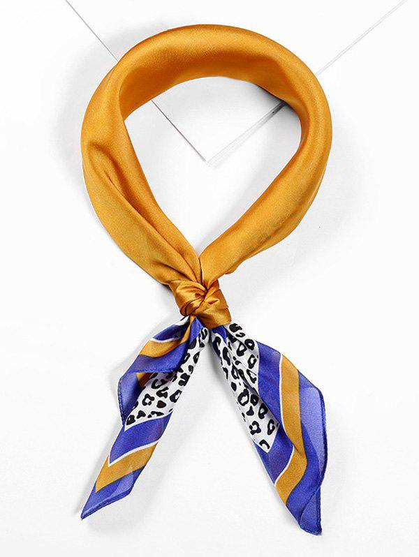 Leopard Printed Neckerchief Scarf - BEE YELLOW