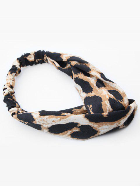 Leopard Pattern Cross Hairband - LEOPARD